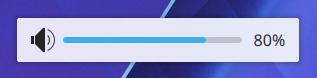 Âm lượng trên màn hình hiển thị