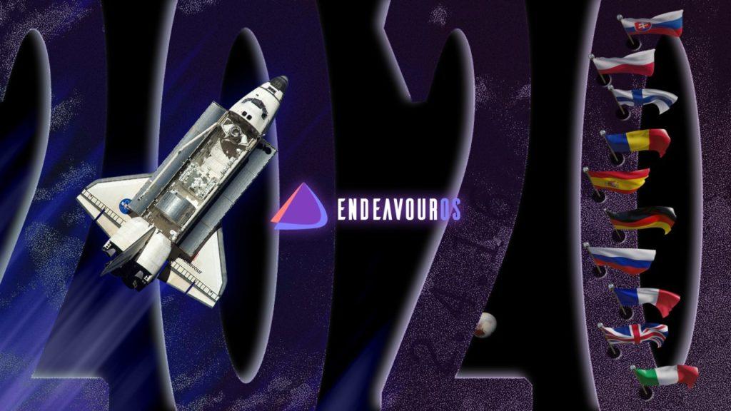 EndeavourOS với ứng dụng chào mừng đa ngôn ngữ