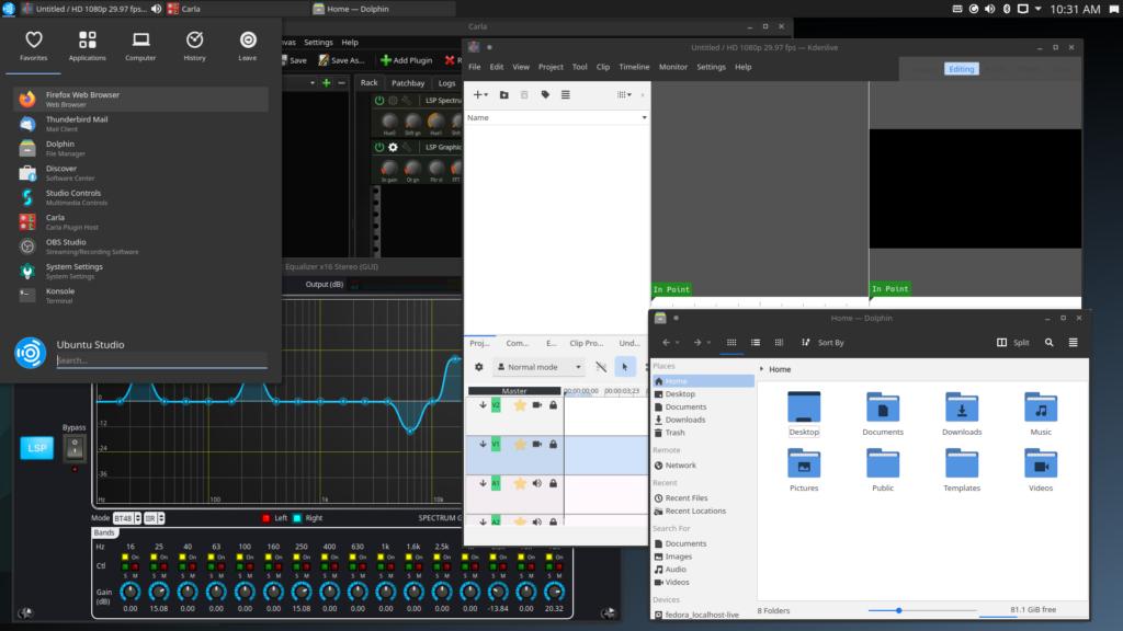 Ubuntu Studio 20.10 với KDE Plasma