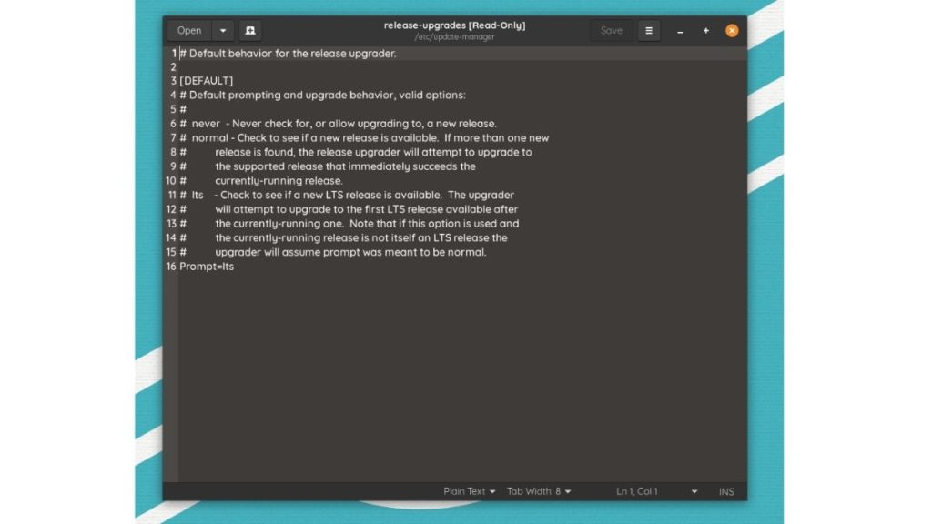 trình quản lý cập nhật - Ubuntu 20.10