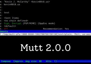 Linux CLI Email Client Mutt 2.0.0: Cập nhật hỗ trợ tên miền
